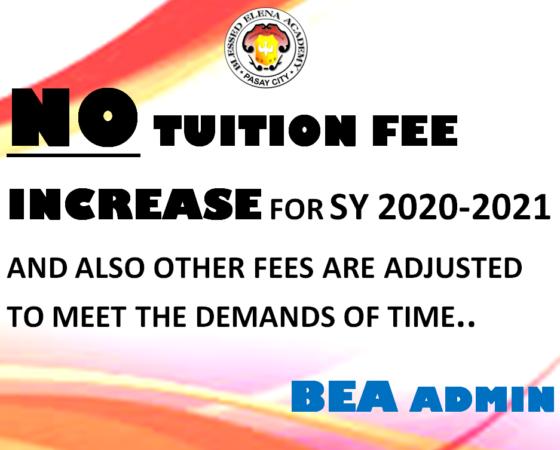 No Tuition Fee Increase